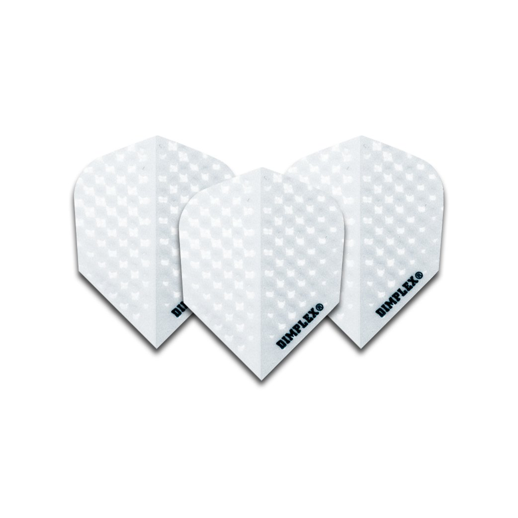 Harrows 4 Sets White Dimplex Dart Flights (12 Flights) by Harrows Darts