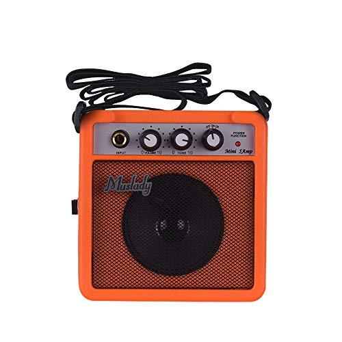 [해외]Muslady 5W Mini Guitar Amplifier Amp Speaker with 3.5mm & 6.35mm Inputs 14 Inch Output Supports Volume Tone Adjustment Overdrive / Muslady 5W Mini Guitar Amplifier Amp Speaker with 3.5mm & 6.35mm Inputs 14 Inch Output Supports Volu...