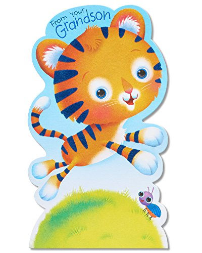 American Greetings Tiger Father's Day Card for Grandpa from Grandson with Foil (5873427)