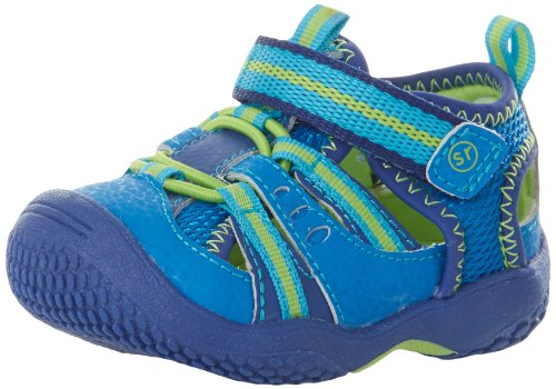 Stride Rite Baby Riff Water Sandal (Infant/Toddler),Blue/Green,5 M US Toddler