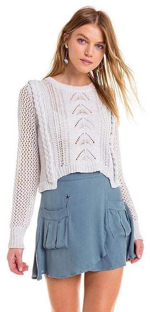 Wildfox 13th Knit Sweater White