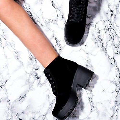 Spylovebuy Hothead Femmes Lacet Plateforme à Talon Bloc Bottines Chaussures   Amazon.fr  Chaussures et Sacs 34d225b9012c