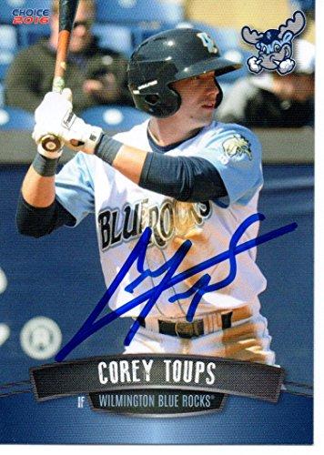 Corey Toups 2016 Wilmington Blue Rocks Signed Card