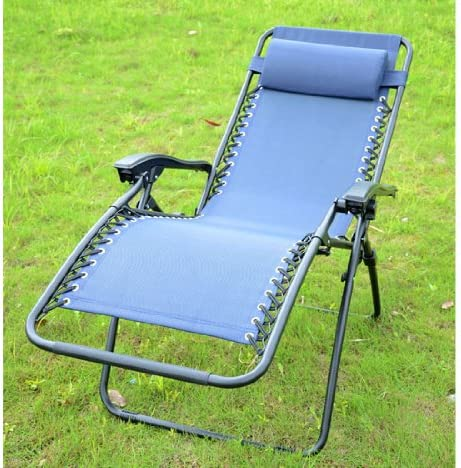 Reclining Zero Gravity Chair Finish Blue