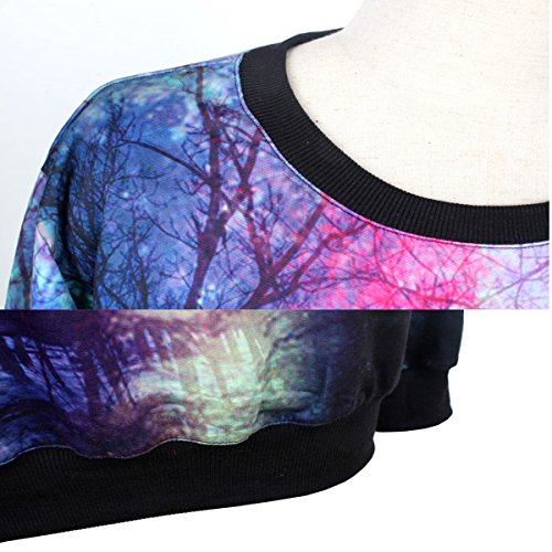 Sudadera de mangas 3d Color Ahatech del cuello con capucha 4 Sudadera redondo Top impresa largas f58wxYqt