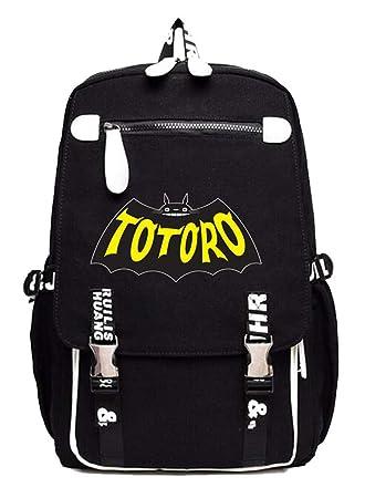 Cosstars My Neighbor Totoro Spirited Away Anime Mochila Escolar Estudiantes Mochila para Portátil Backpack Bolsa Casual -1: Amazon.es: Equipaje