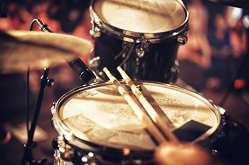 Beats Waiting to Happen Drums Cymbal Musical Photo Art Print Poster 36x24 inch