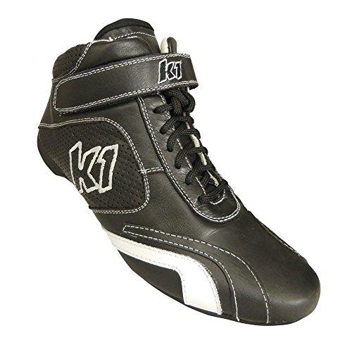 K1 Race Gear GT Nomex Auto Racing Shoes (Black, Size-9.5)