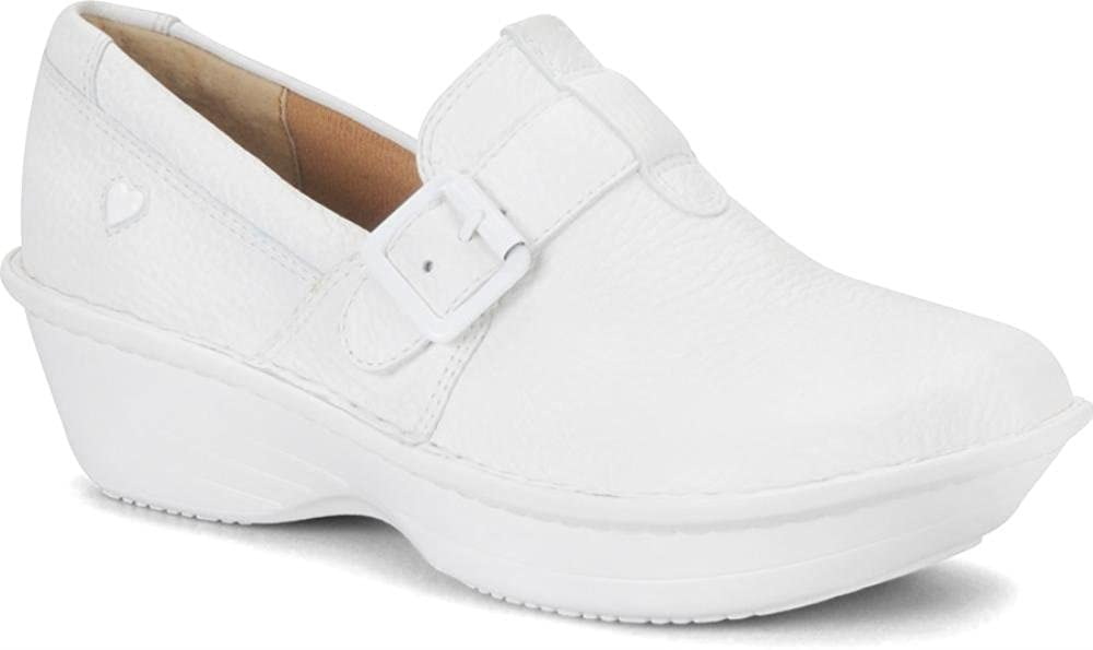 - Nurse Mates Women's Gelsey shoes in White (Wide)
