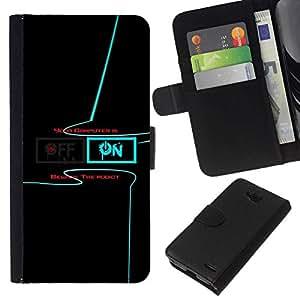 All Phone Most Case / Oferta Especial Cáscara Funda de cuero Monedero Cubierta de proteccion Caso / Wallet Case for LG OPTIMUS L90 // Power on Power off