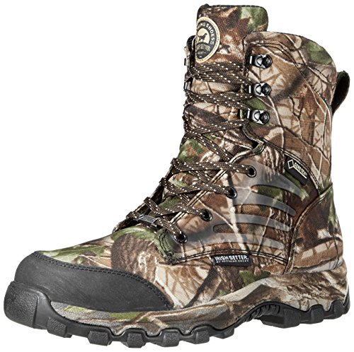 Irish Setter Men's 3858 Shadow Trek Waterproof 8'' Big Game Boot,Real Tree Hardwoods Green HD,5 D US by Irish Setter