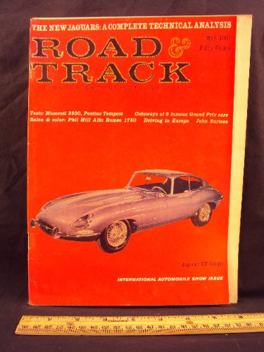 Road Track Magazine Book - 1961 61 May ROAD and TRACK Magazine, Volume 12 Number # 9 (Features: Road Test On Maserati 3500 GT & Pontiac Tempest, + Alfa Romeo 1750)