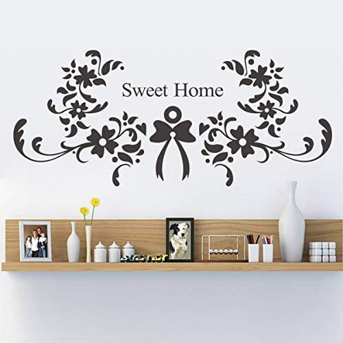 SWEET HOME Elegant Flower Vine New Bedroom Sofa Backdrop Wall Stickers Wholesale Price Home Wall Decoration