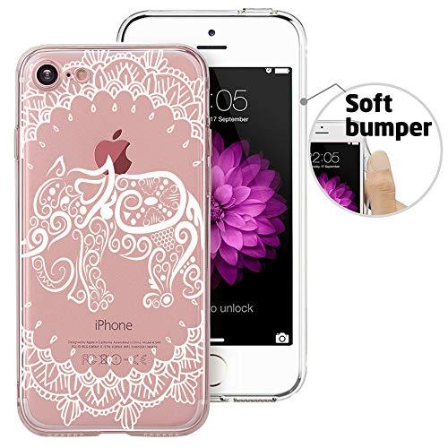 iPhone 8 Case, iPhone 7 Case, Doramifer Maya Series Protective Case Soft TPU Bumper [Shock-Absorption][Good Grip][Anti-Slip] 4.7 inch iPhone 8/iPhone 7 (Elephant)