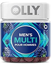 OLLY Men's Multivitamin Gummy Supplement With Vitamins A, C, D, E, Bs, Zinc & Lycopene. Blackberry Blitz Flavour. Contains Essential Nutrients to Support Men's Health (45 Day Supply, 90 Gummies)