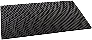 Rubber Cal Maxx Tuff Heavy Duty Protective Mat, Black, 12mm x 2 x 3-Feet