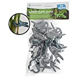 Happy Hydro - Plant Support Clips - Medium Size - Great for Vines, Stalks, and Stems - 20 Pack