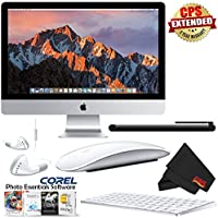 6Ave Apple iMac MNED2LL/A 27 Inch, 3.8GHz Intel Core i5, 8GB RAM, 1TB Fusion Drive, (Silver) 2017 Model + MicroFiber Cloth + Universal Stylus for Tablets Bundle
