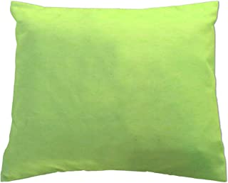 product image for SheetWorld Crib Toddler Pillow Case, 100% Cotton Flannel, Lime, 13 x 17, Made in USA