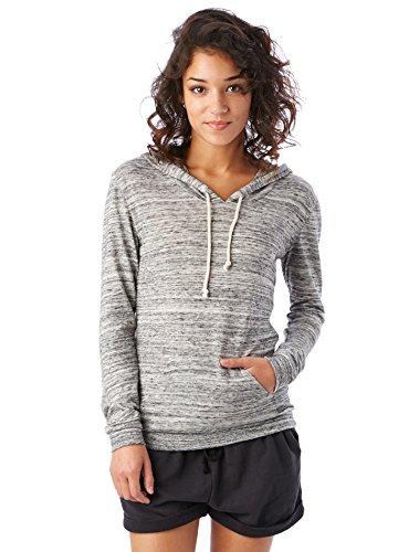 Alternative Womens Classic Space Dye Eco Jersey Pullover Hoodie Medium Urban Grey
