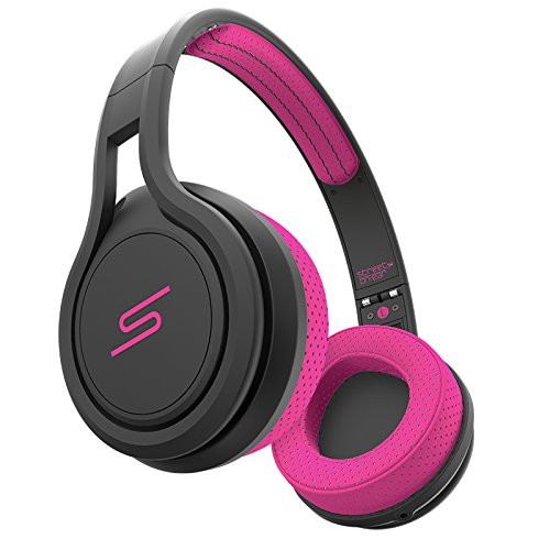 SMS Audio SMS-ONWD-SPRT-PNK STREET by 50 On-Ear Wired Sport Headphones - Pink