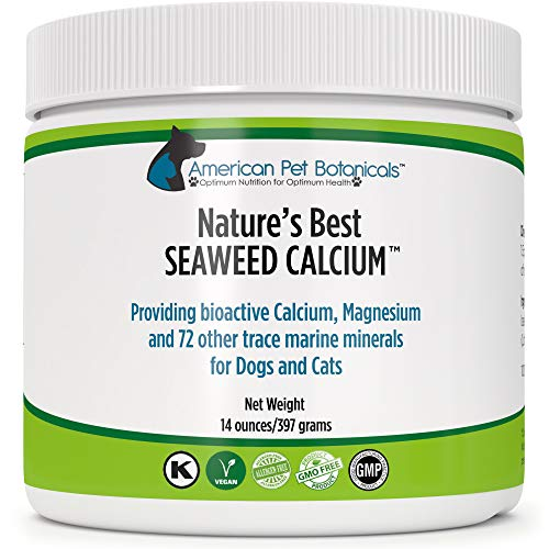 - Nature's Best Seaweed Calcium for Pets, Vet Recommended, Tested for Purity, 14 ounces