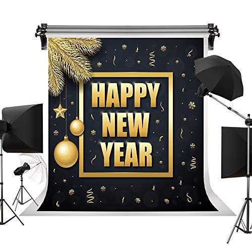 Kate 10x10ft/3x3m 2019 Happy New Year Party Background Shining Stars Balls Backdrop Gold Ribbon for Babies Kids Newborn Adults Photography Backdrops -  TTGMXAMAZON-J10247