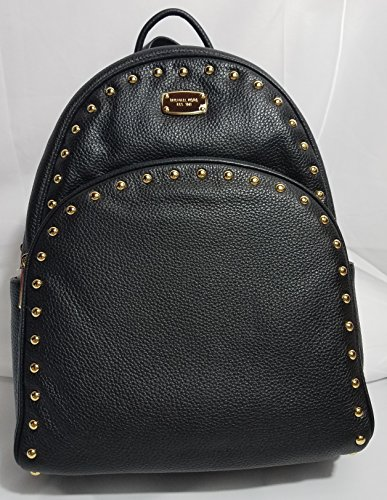 Michael Kors ABBEY Large Studded Leather Backpack, Black