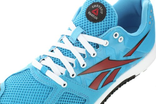 5ea3624faa5e Reebok Womens CrossFit Nano 2.0 Buzz Blue-Techy Red-White Athletic ...