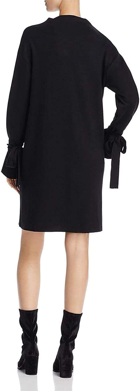 Tie Sleeve Shift Sweater Knit Casual Dress