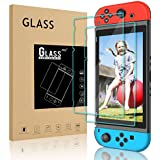 [ 2 Pack ] DONWELL Nintendo Switch Tempered Glass Screen Protector Friendly Bubble Free Anti Scratch Screen Protective Cover for Nintendo Switch 2017 Handheld Video Game Console 6.2 inch