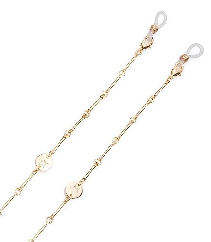 STARLITE DESIGN Cadena para gafas Star de Mujer de color dorado