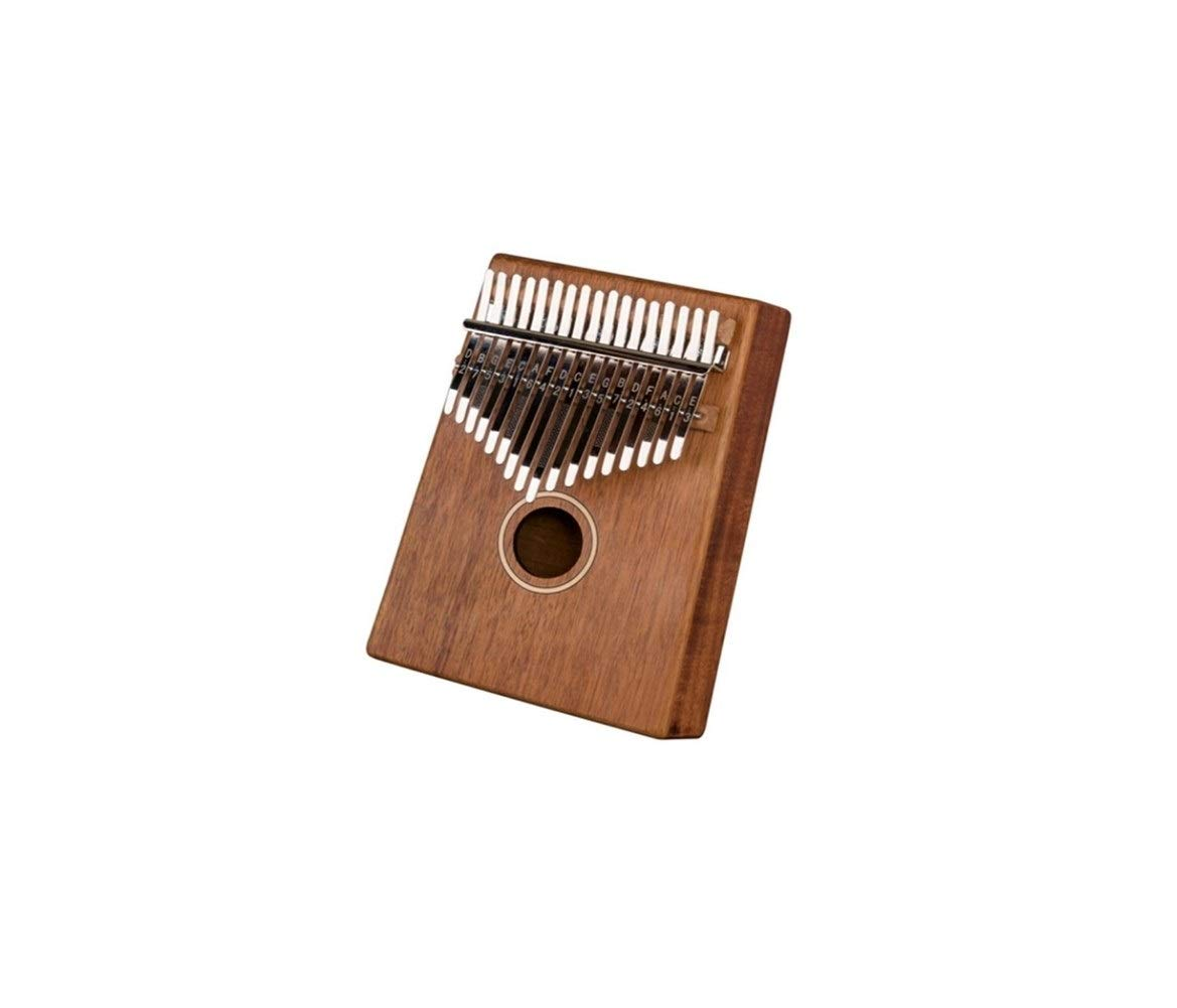 Qiyuezhuangshi Thumb piano, portable 17-key thumb piano, simple design style for music lovers and beginners (brown, giveaway; piano bag tuning hammer) Easy to use (Color : 2)