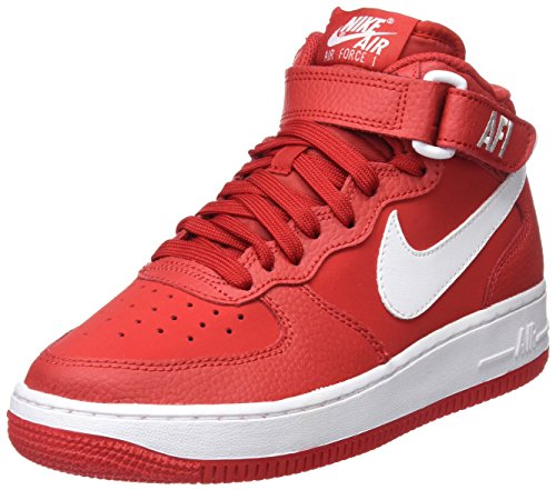 Multicolore Garçon Nike Air Mid Basketball GS Force 1 University Redwhite Chaussures de xzTpf