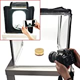 FOTOCREAT 24x24 inch(60x60cm)LED Product Photo Light Tent Kit / Photo Lighting Studio Shooting Tent Box Kit