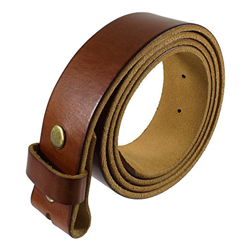 Gelante Genuine Full Grain Leather Belt Strap without Belt Buckle G2016-TAN-L (Belt Brown Strap)