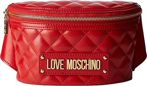 Love Moschino Borsa Quilted Nappa Pu, Women's Cross-Body Bag, Red (Rosso), 7x13x22 cm (W x H L)