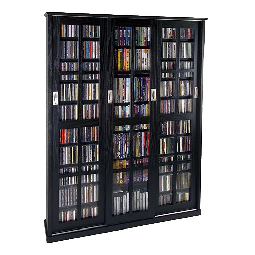 Leslie Dame MS-1050ES Mission Style Multimedia Storage Cabinet with Sliding Glass Doors, Espresso Leslie Dame -- DROPSHIP