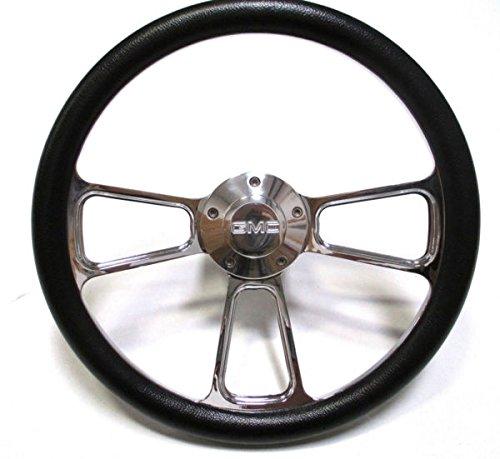 Gmc Steering Wheel - 1974-1994 GMC C-Series Pick-Up Truck - Black & Chrome Steering Wheel - Full Kit