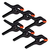 tiny craft brackets - Art Muslin Clamp | 6pcs Heavy Duty 6 inches Black Backdrop Clipper Support with Pivot End Grip | Durable Non-Damaging Lightweight ABS for Paper Cloth Canvas Studio Art Craft Photo Video Shoot | 1305.2