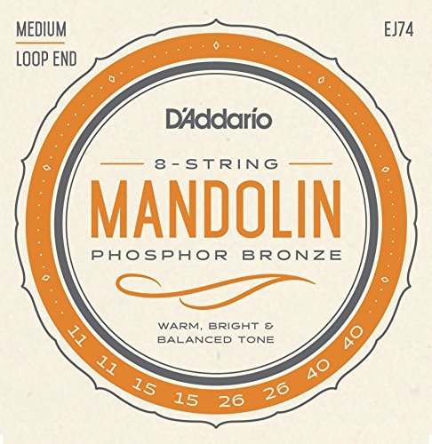 D'Addario EJ74 Phosphor Bronze Mandolin Strings, Medium,, used for sale  Delivered anywhere in USA