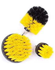 Drill Brush Scrubber Brush, 3Pcs Electric Scrubbing Cleaning Kit, Can Be Used for Tiles Sinks Bathtubs Bathrooms Kitchens And Cars(Golden)