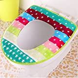 Bathroom Toilet Seat Household Toilet Seat Cover Flannel Adhesive Winter Warm and Soft Sticker Universal Fit - Machine Washable (Color : Purple)