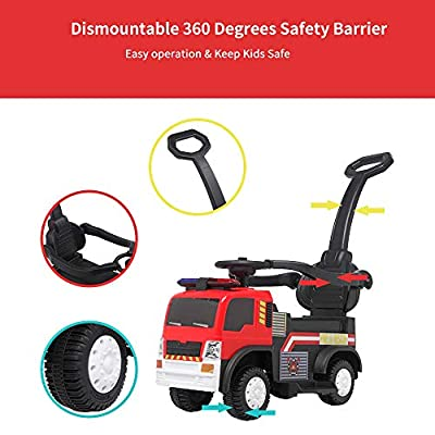 Lykos 3 in 1 Push Car Ride on Fire Truck Convertible Kids Baby Toddler Stroller Safety: Toys & Games
