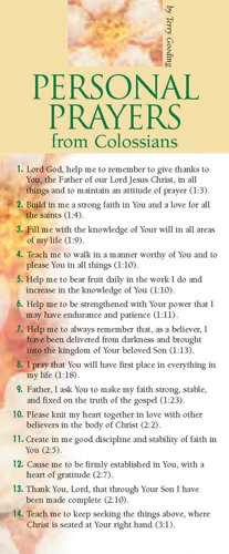 (Personal Prayers from Colossians 50-pack (Prayer Cards))