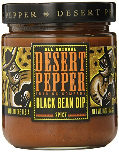 (Desert Pepper Trading Company Spicy Black Bean Dip, Medium, 16 Ounce by Desert Pepper Trading Company)