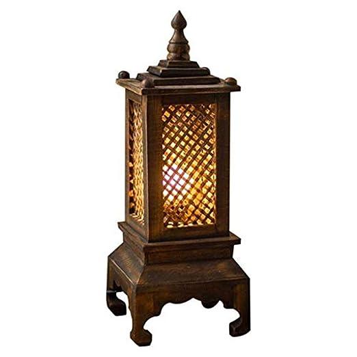 NLYWB Lámpara de Mesa Creativa de Madera Maciza, lámpara de ...