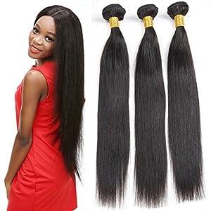 9A Grade Brazilian Virgin Human Hair Extensions Straight Hair Bundles Unprocessed Natural Color Hair Weave 3 Bundles 4 bundles 100g/Bundle (24'' 24'' 24'' 24'')