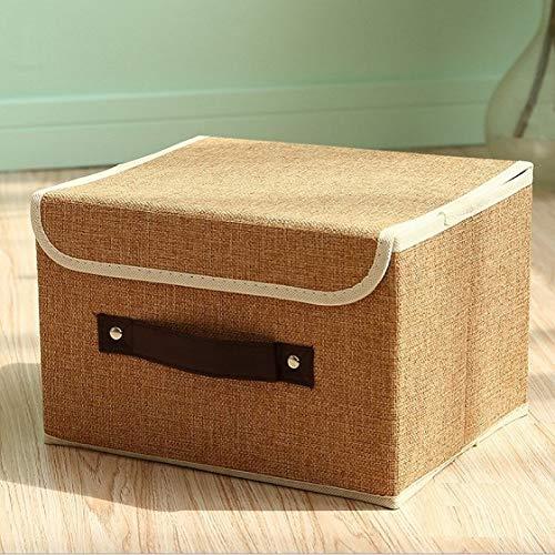 Tenozek Foldable Fabric Storage Organizer Large Capacity Bra Toys Container Khaki