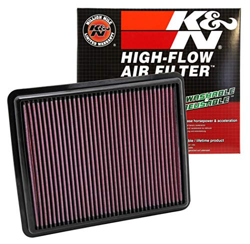K&N engine air filter, washable and reusable:  2009-2017 Hyundai/Kia L4/V6 (Azera, i45, Sonata Hybrid, Sonata, ix35, Santa Fe, Cadenza, K7, Optima Hybrid, K5, Optima, Sorento, Sportage R) 33-2448